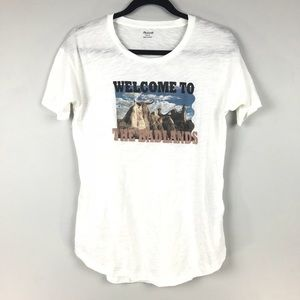 Madewell Sz S Welcome To The Badlands Whisper Tee
